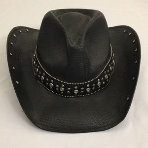 4ad62ec43a Peter Grimm Accessories - Peter Grimm Black Rhinestone Cowgirl Hat Natural